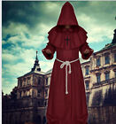 Adult Mens Halloween Costumes Priest Costume Medieval Monk Christian Missionary