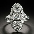 Vintage Women 925 Silver Wedding Rings Round Cut White Sapphire Ring Size 6-10 image