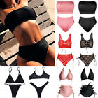 Womens High Waist Bandeau Bikini Set Two-piece Push Up Padded Swimsuit Swim Wear $9.71 USD on eBay