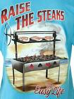 Men's T-shirt Raise The Steaks The Easy Life Grilling BBQ Poker Bluffing Cards