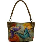 ANNA by Anuschka Hand Painted Leather Shoulder Bag Leather Handbag NEW