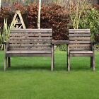 Barrowden Outdoor Wooden Garden Companion 3 Seat / Patio Furniture / Bench 2+1s