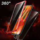 For iPhone X Xs Max XR 7 8 Plus 360° Front + Back Magnetic Glass Case Cover