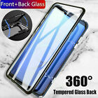 360° iPhone XR 7 8 case Plus Front + Back Magnetic Tempered Glass Mirror Cover