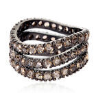 Free Shipping !! 4.38 ct Pave Diamond Sterling Silver Band Ring Fashion Jewelry