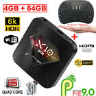 Lot LCD X10 PLUS Smart TV Box Android9.0 4 64G WiFi 6K Quad Core Player Keyboard