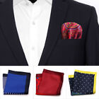 Men Formal Pocket Square Handkerchief Wedding Groom Suit Fashion Decor 23*23cm $1.92 USD on eBay
