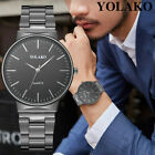 Men's Casual Simple Style Quartz Watch Stainless Steel Band Analog Wrist Watch image