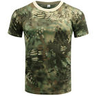 Men Tactical Breathable Camo Quick Dry Tops Short Sleeve Tee Mesh T-Shirt BlouseT-Shirts - 15687
