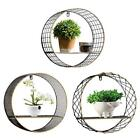 Circular Round Storage Rack Wall Hanging Decorative Home Ornament Storage Shelf