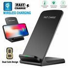 Qi Wireless Charger Fast Charging Dock Pad with Fan for iPhone 8 XS Samsung S10