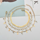 3pcs Women's Gold Sequins Anklet Beach Foot Chain Summer Beach Anklet Gift WE