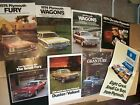 8 VINTAGE AUTO BROCHURES,1974 & 1975 Plymouth, Fury, Duster, Road Runner, & More