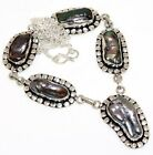 """B2474 Biwa Pearl 925 Sterling Silver Plated Necklace 18"""""""