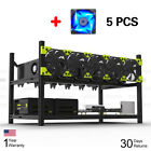 Stackable Open Air Mining Rig Case w/ 5/7 Fans 6/8 GPU Ethereum ZCash Veddha PGS
