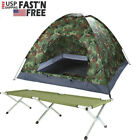 3-4 Person Portable Camping Tent Camouflage Waterproof Tent Foldable Camp Bed US