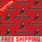 "Tampa Bay Buccaneers NFL Cotton Fabric - 60"" Wide - Style# 6488 - Free Shipping! $15.95 USD on eBay"