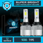 US Cree COB LED Headlight Kit 9006 HB4 1300W 6000K 195000LM Bulbs Pair HID white