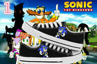 New Anime Sonic the Hedgehog Cosplay Canvas Unisex Black Sneakers Casual Shoes