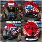 New England Patriots Custom Painted Airbrushed Motorcycle Helmet