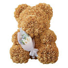 Colorful Rose Bear with Flower Bouquet for Wedding Birthday Christmas