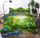 Peacock Deer Board 3D Printing Duvet Quilt Doona Covers Pillow Case Bedding Sets
