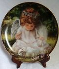 """""""An Angel's Kindness"""" by Donna Brooks Bradford Exchange Collector's Plate (1996)"""