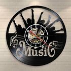 Put Up Your Hand Wall Clock Rock N Roll Vinyl Record Wall Clock Hanging Decor