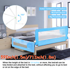 Swing Down Bed Rail Bedrail Crib Kid Toddler Elderly Safety Guard Bunk 56/71inch