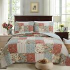 Eleanor Patchwork Reversible Cotton Quilt Set, Bedspread, Coverlet image