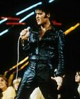 MENS ELVIS PRESLEY ROCK N ROLL BLACK REAL SHEEP LEATHER JACKET LEATHER SUIT PANT