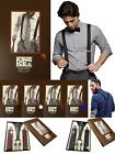 New Men's High Quality Clip On Wide Braces Gift Box Wedding Suspenders