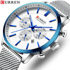 CURREN Top Brand Luxury Waterproof Business Wrist Watch Quartz Chronograph Men image