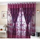 Luxury Jacquard Window Curtains Tulle Panel Sheer Voile Home Bedroom Living Room