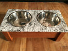 pet food bowl dog food bowl stand epoxy topped great looking unique