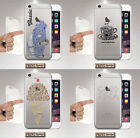 Cover for IPHONE, Beetle, Coffee, Ice-Cream, Silicone, Soft, Clear, Colours