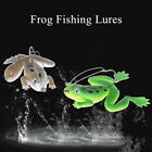 Lot 1Pcs Plastic Frog Fishing Lures ass Spinner Bait Weedless Hook Tackle 6L BH