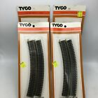 THREE TYCO 4 PIECE CURVE TRACK AND ONE 2 PIECE SUMPER TRACK