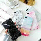 For iPhone X 6 7 8 Plus Max Lithe Marble Pattern Phone Case Cover Shockproof