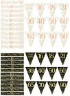 WHITE ROSE BLACK GOLD  PARTY DECORATIONS BANNERS BUNTINGS  (OT)