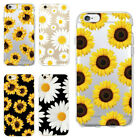 Floral Phone Case Clear For iPhone 5 6 6s 7 8 Plus X Xr Xs Max Daisy Sunflower