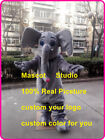 Grey Elephant Mascot Costume Cosplay Party Game Dress Unisex Halloween Adult New