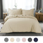 Hotel Luxury Microfiber Quilt Bedding  Duvet Cover Pillow Sham Set with Buttons image