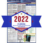 2019 Florida State and Federal Labor Laws Poster -OSHA Workplace-UV Coated
