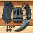 XHM D2 Tactical Karambit Knife Fixed Blade Hunting CSGO Claw Knives Stone Wash