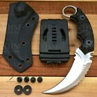 XHM D2 Tactical Karambit Knife Fixed Blade Hunting CSGO Claw Knives Silver