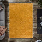 Extra Large Mustard Yellow Shaggy Rug Warm Cheap Cosy Fluffy Living Area Rugs