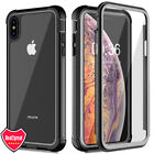 For iPhone X XS Max XR 360° Full Shockproof Clear Case Cover+Screen Protector