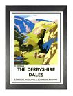 The Derbyshire Dales British Railway Travel Advert Old Vintage Retro Poster