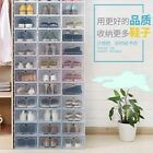 Внешний вид - 3/6/12pc Foldable Plastic Transparent Shoe Storage Clear Box Stackable Organizer